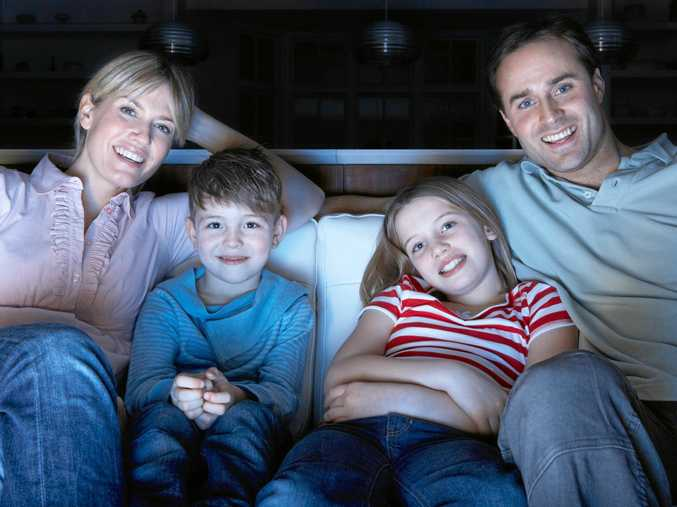 GET TOGETHER: Family movie nights and routines like this are incredibly important for children and teenagers, and the whole family unit, says psychologist Sabina Read (INSET).