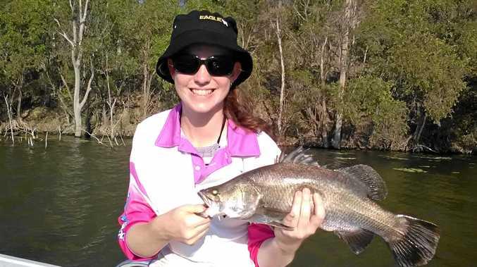 FINE CATCH: Ayley Smith with her first ever Monduran barra.