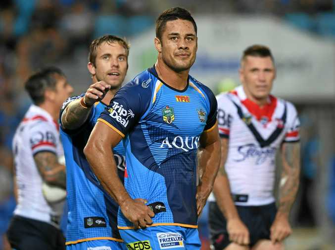 Titans players including Jarryd Hayne will play in Toowoomba and Gladstone.
