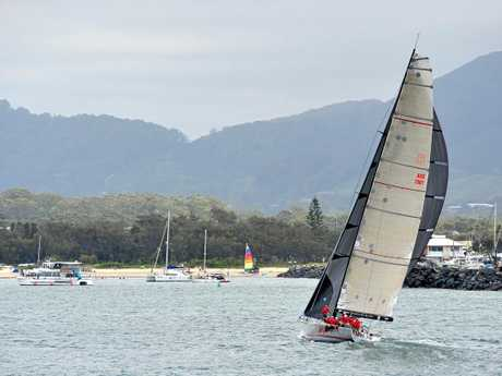 Wild Oats X, winner of the 30th Pittwater to Coffs Harbour yacht race.
