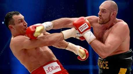 Fury takes on Wladimir Klitschko.