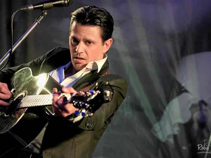CASH LIVES: Jeff Carter performs in his Johnny Cash and the Outlaws show which hits Yeppoon tomorrow.