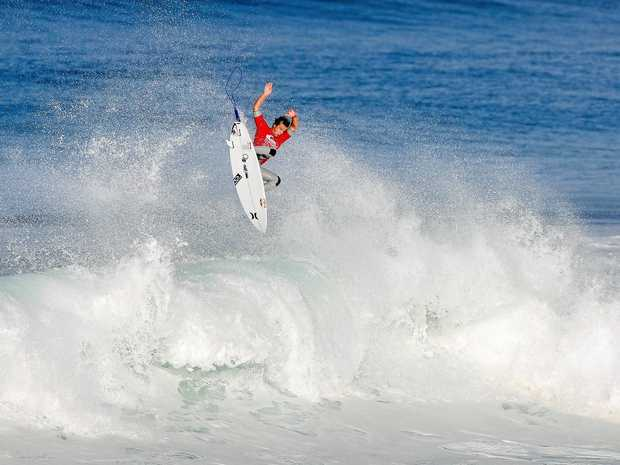 UP IN THE AIR: Julian Wilson struggled to find his groove in France.