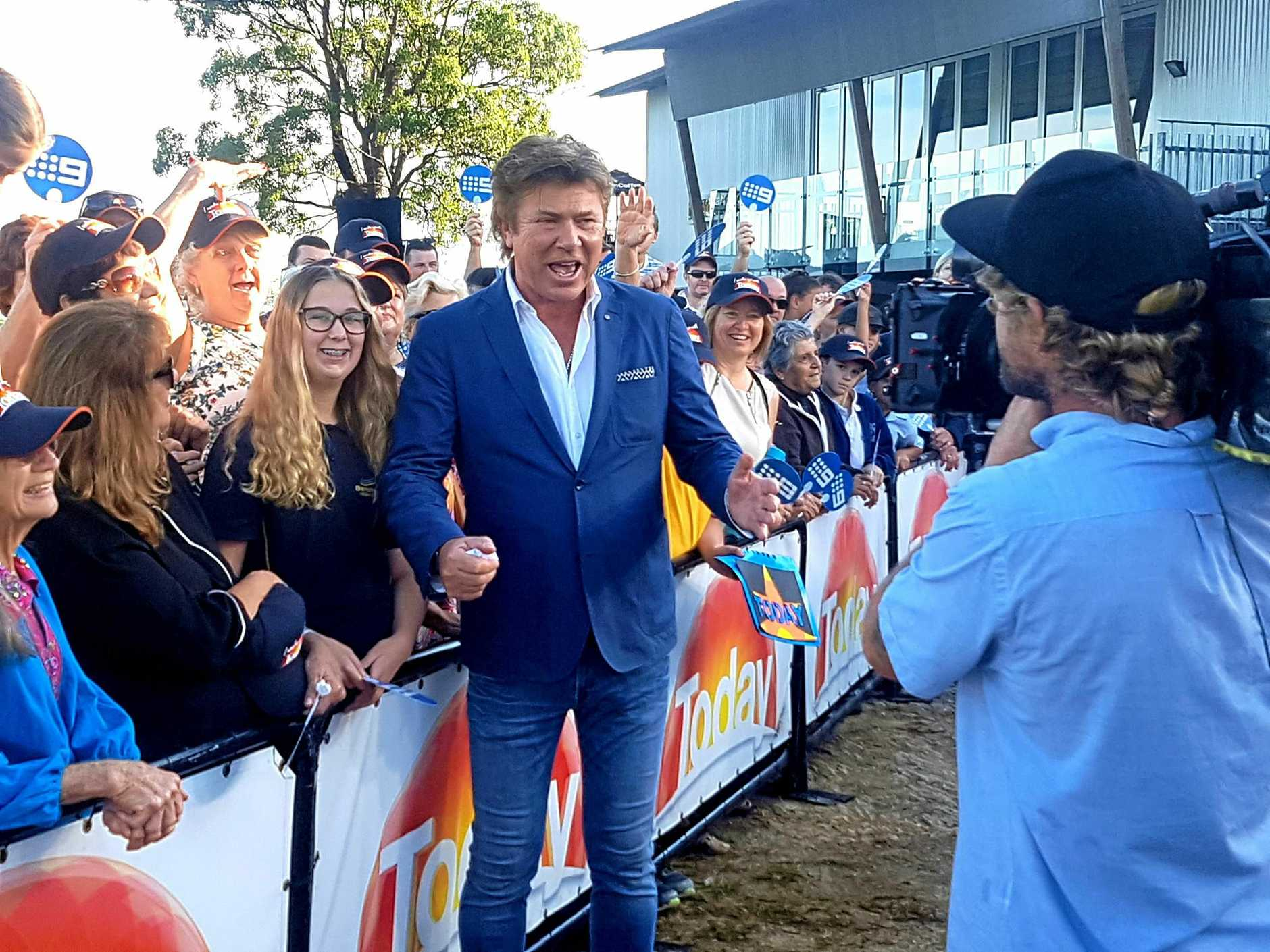 Entertainment guru Richard Wilkins crosses live from Tweed Regional Gallery as fans watch on during the TODAY Show broadcast on Friday.