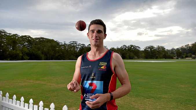 SCORCHER: Ruaidhri Smith has linked with Sunshine Coast for most of the cricket season.