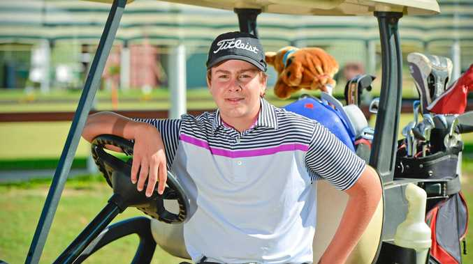 REST TIME: Blaike Perkins is this week's Yaralla Sports Star and practices everyday on the greens at BITS and at Bargara golf clubs.