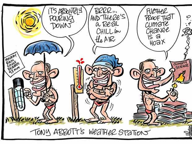 Harry Bruce cartoon abbott climage change