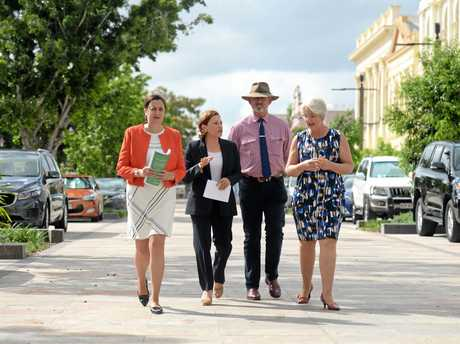 Premier Annastacia Palaszczuk and Deputy Premier Jackie Trad joined member for Rockhampton Bill Byrne and Rockhampton Region Mayor Margaret Strelow to officially launch the CBD Redevelopment Framework this morning.