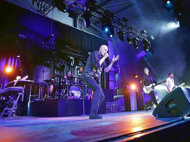 FULL HOUSE: Midnight Oil performed to a sold out crowd at Great Western Hotel last night.
