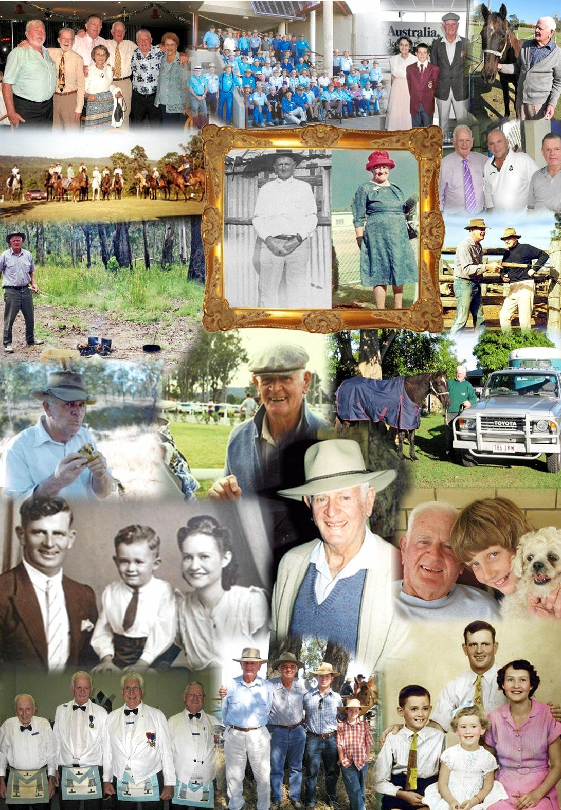 Wonderful memories of family in friends as the life of Ken Cavanough is celebrated.