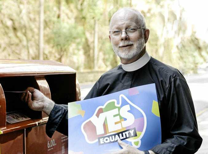 The Dean of Brisbane Dr Peter Catt posts his YES vote in the city recently. He explains why his church and many others are in favour of marriage equality.