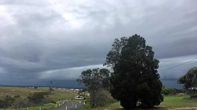 ROLLING IN: Storm clouds are rolling in over Hervey Bay.