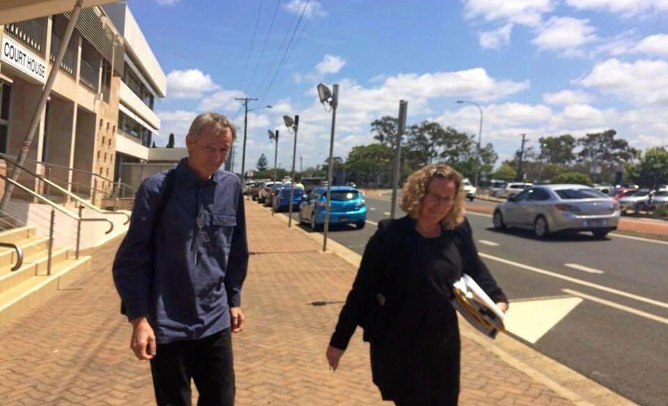 David Drews and Lavonda Maloy outside the Bundaberg Courthouse.