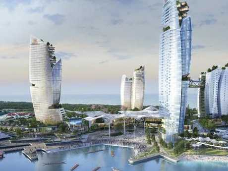 ASF consortium's proposed Integrated Resort at The Spit, which was knocked back by the State Government