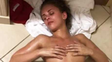 Paige VanZant slumped on a bathroom floor during a drastic weight cut.