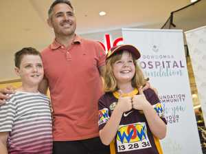 Former Broncos captain Corey Parker meets fans in Toowoomba
