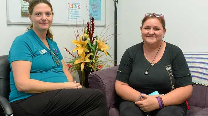 Women's Health Centre councillor Alicia Harris with Belinda.
