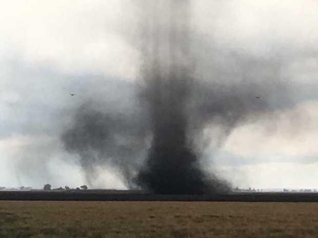 Landspout near Cecil Plains, captured by Claire Flegler.