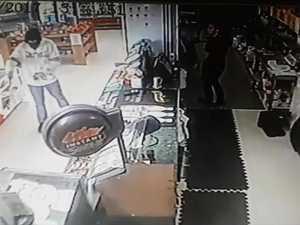 Armed robber CCTV footage Kawungan