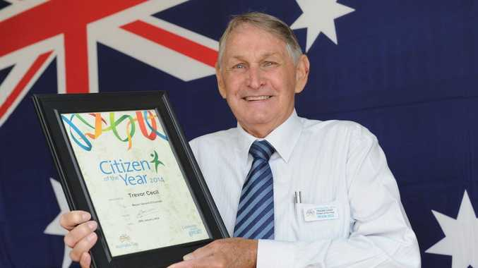 Fraser Coast Citizen of the Year Trevor Cecil.
