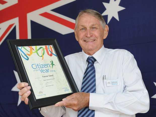 Fraser Coast Citizen of the Year Trevor Cecil.