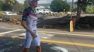 Less than three kilometres into the Ironman run 42.2km course, Frodeno was reduced to a walk.