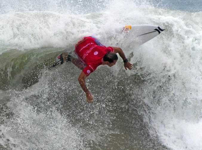 LOST FORM: Julian Wilson, pictured earlier in the year at the Australian Open of Surfing, had a disappointing result at France.
