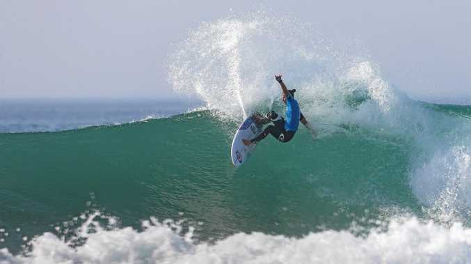 DEFENDER: Tyler Wright  finishes second on heat 2 semi final at Roxy Pro France.