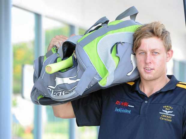 Cricket player Tom Freshwater heading to Scotland.  Photo: Alistair Brightman / Fraser Coast Chronicle