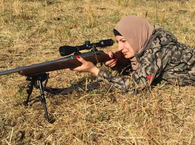 Kadeja says patience and steadiness are vital for a hunter.