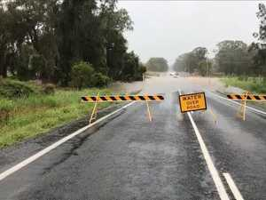Flash flooding causes road closures