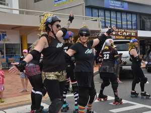 The Roller Derby team showed their style in the
