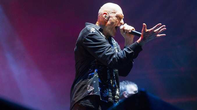 Midnight Oil played to a sold-out crowd at Big Pineapple Fields last night.