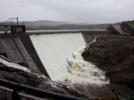 OVERFLOW: Wappa Dam is spilling over.