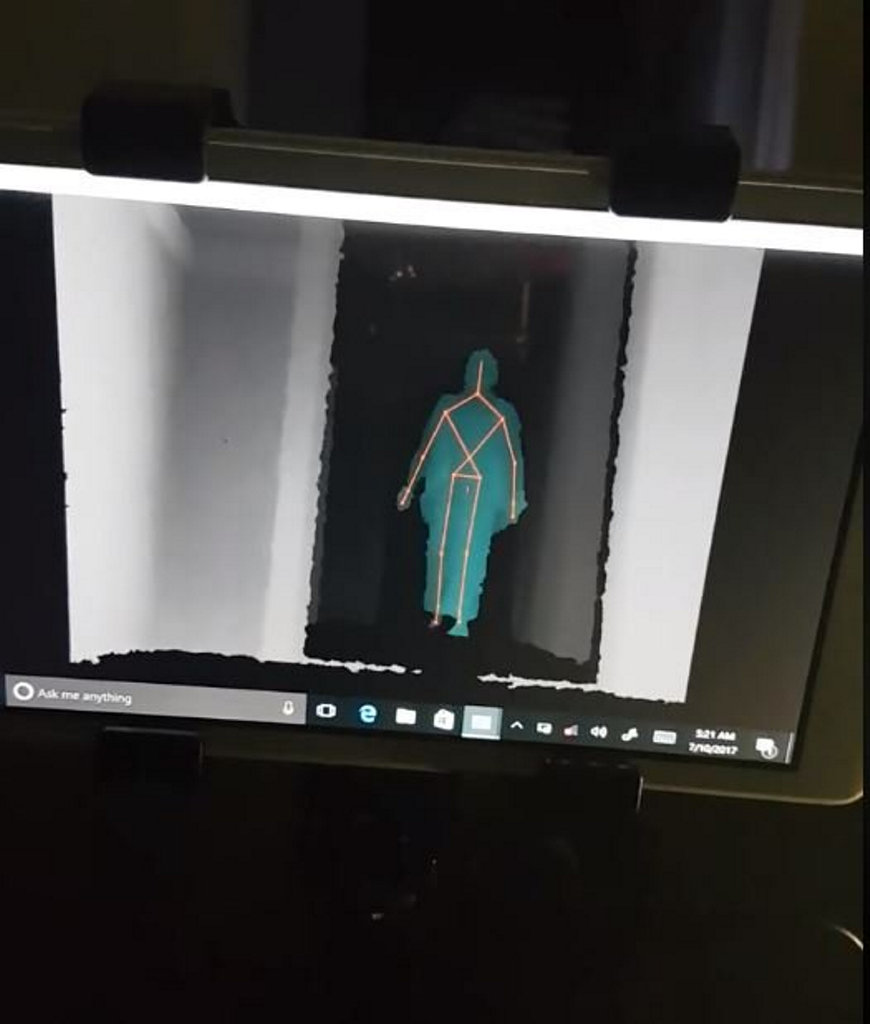 Katie Harvey Paranormal and Historical Enthusiast has a new tool to detect ghosts - an SLS Mobile Kinect.