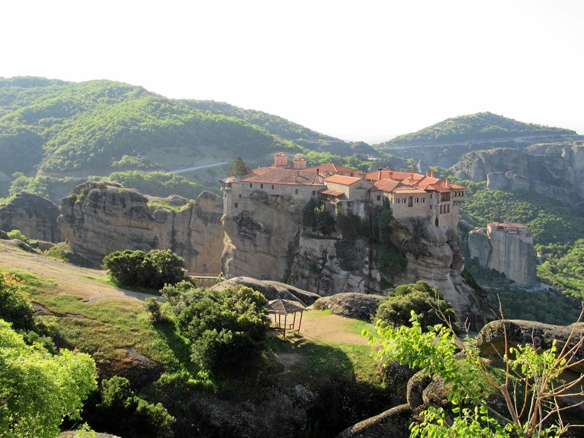TRAVEL: Monastery at Meteora Northern Greece which is in the Battle of Greece and Crete tour.