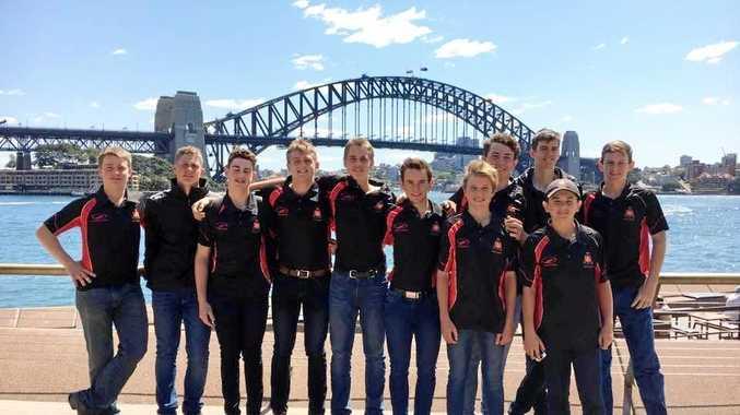 The Rockhampton Grammar School First XI members on their recent tour of Sydney.