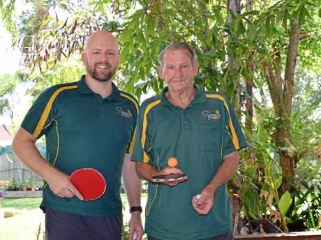 HAVE A HIT: Michael Anderson and Noel Scudds are encouraging the community to get behind a 24-hour ping-pong-a-thon.