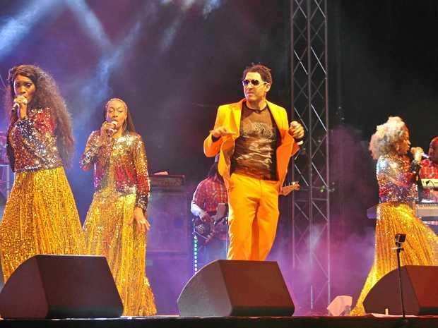 Disco greats Boney M perform at The Star, Gold Coast on Friday night.