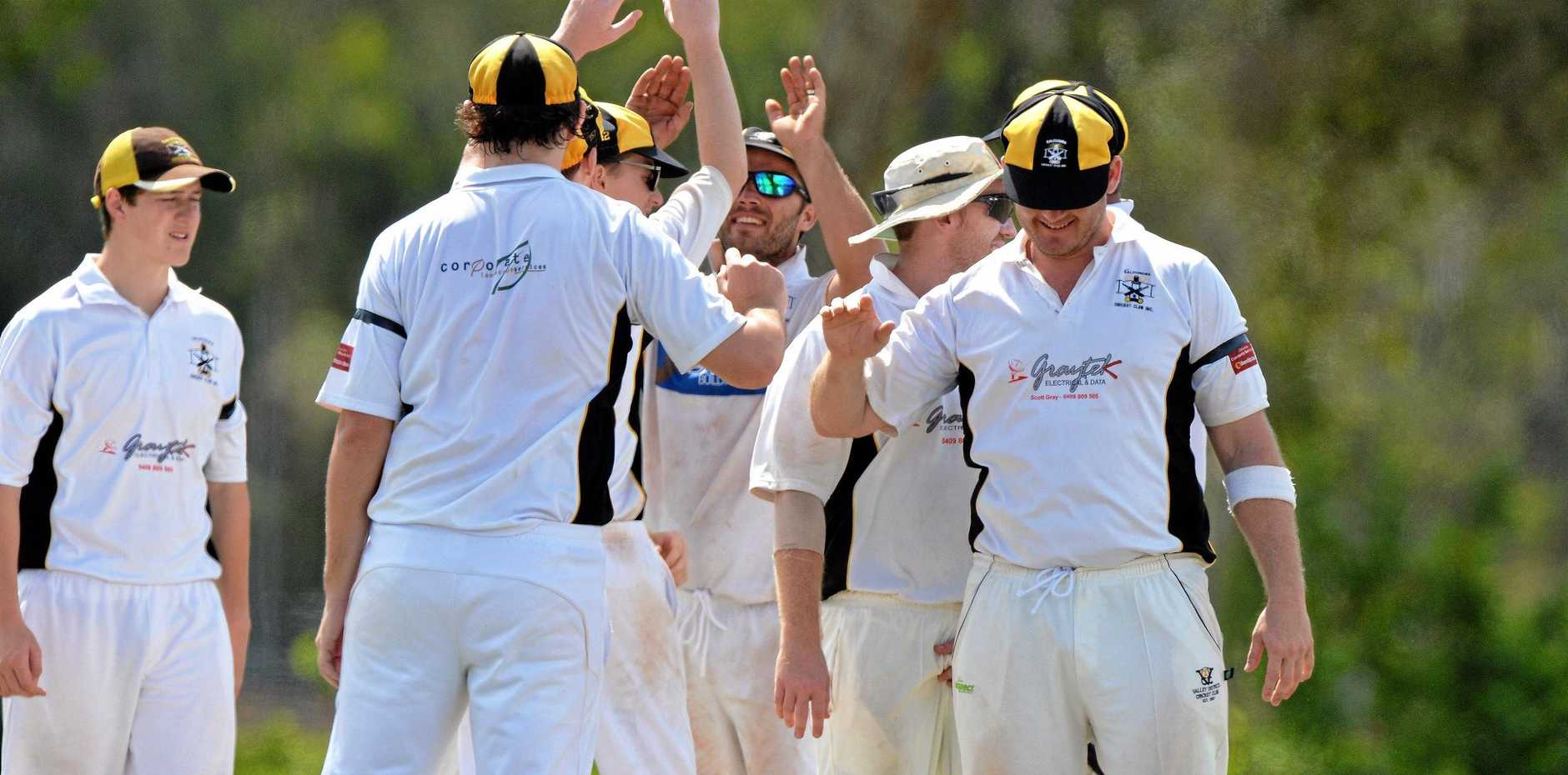 CELEBRATION: High fives from Caloundra players in a previous game.