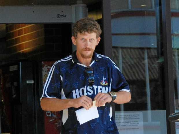 Damiken Andrew Nicholi Olsen leaving Mackay Court House.
