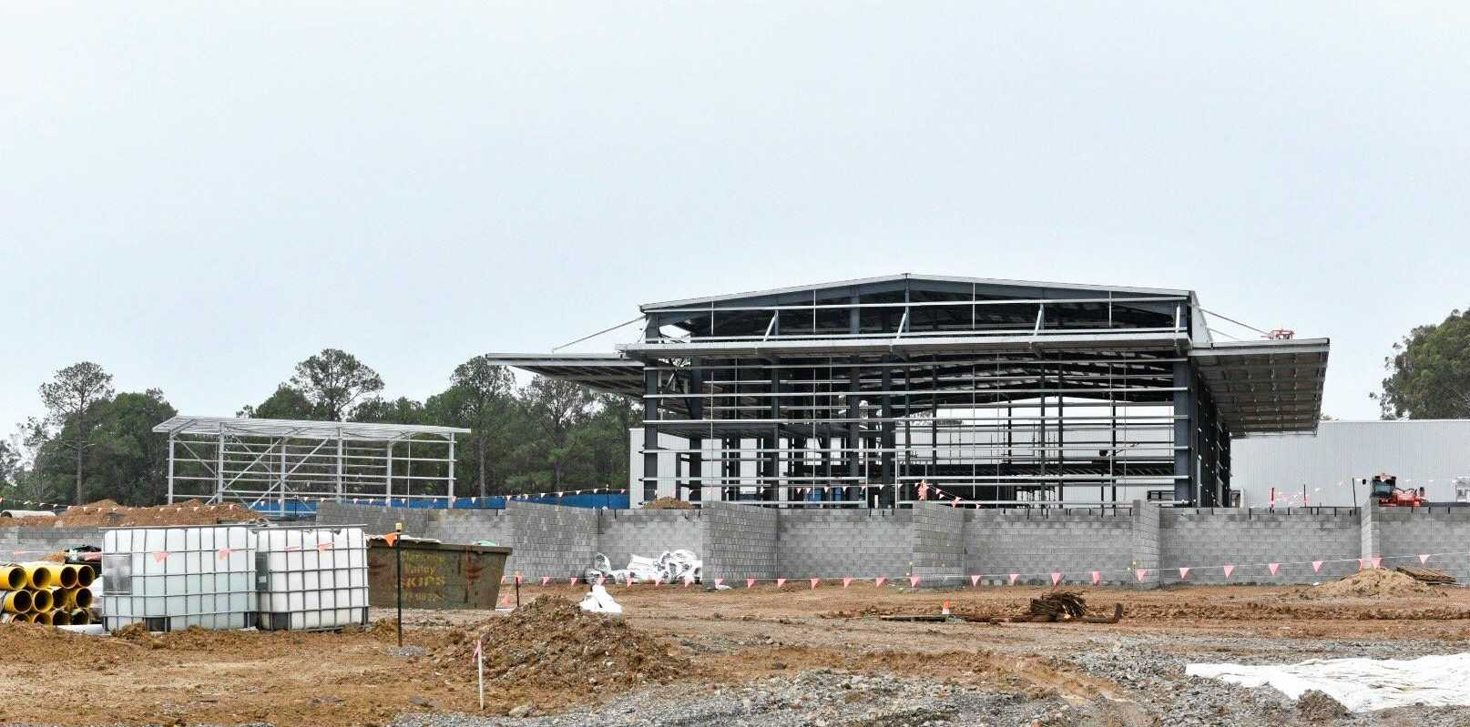 TAKING SHAPE: The development of the new Clarence Valley Council superdepot in South Grafton is nearing its completion date.