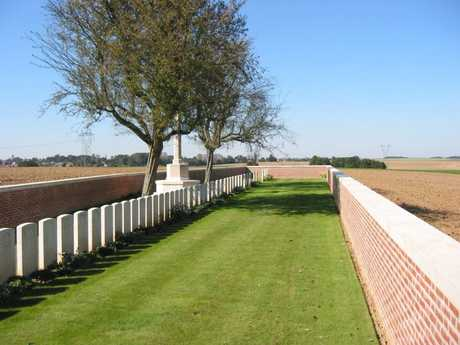 TRAVEL: High Trees Cemetery at Montbrehain, The Somme. The Last grave to the east has Australians interred.