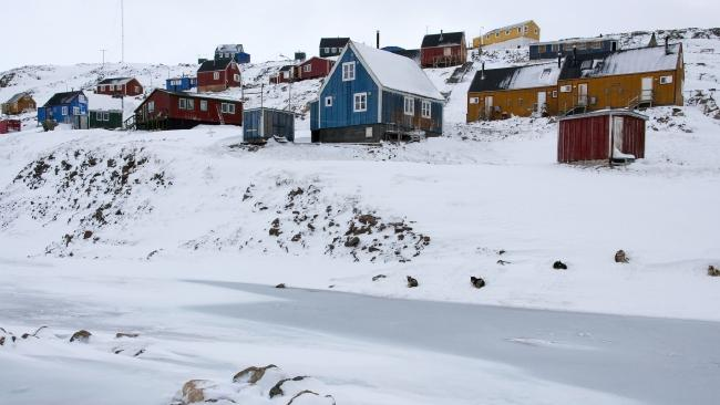 Ittoqqortoormiit on the coast of eastern Greenland