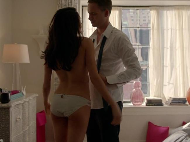 Meghan Markle stripped down for a scene on Suits.