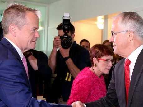 Opposition Leader Bill Shorten and PM Malcolm Turnbull.