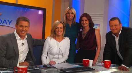 Michele Mahone, centra, with Cameron Williams, Leila McKinnon, Amelia Adams and Tim Gilbert.