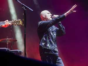 Midnight Oil perform at the Big Pineapple on Sunshine Coast