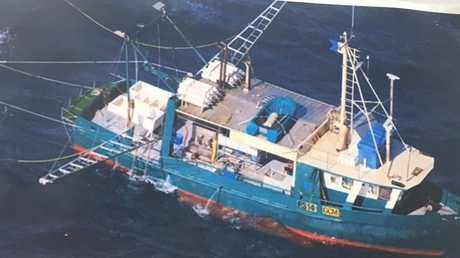 The sea cucumber trawler, Diane, is believed to be the vessel which capsized near Middle Island on Monday night with seven crewmen on board.