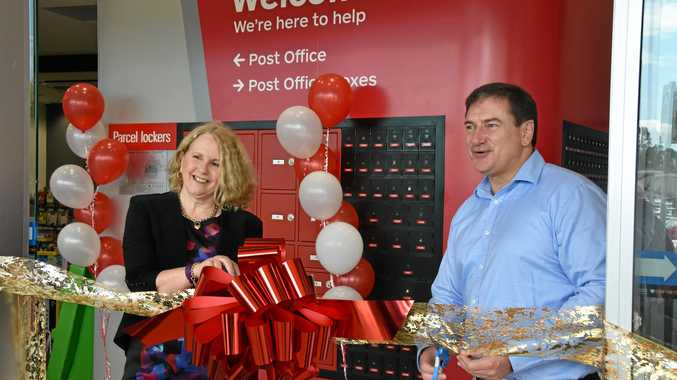 GOOD MAIL: Australia Post state manager Pauline Davis with Federal MP Llew O'Brien at the new office opening.